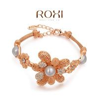 Wholesale ROXI Fashion Accessorie Jewelry Full CZ Diamond Austria Crystal with SWA Element Flower Bracelet for Women