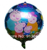 """50 pcs 18"""" inch Pink peppa pig Helium balloons kids birthday party decorations Inflatable toys gifts for children games"""