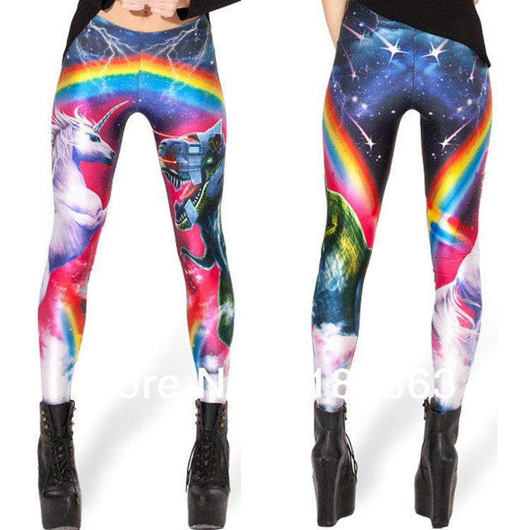 Colorful Print Leggings Galaxy Leggings The Color