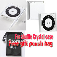Clear Crystal Hard case For iPod Shuffle4 6 7 7th Gen + Pouch Case Bag Free shipping