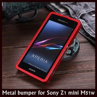 New Arrival Aluminum Metal Bumper Frame Case Case for Sony Xperia Z1 Compact M51w /Sony L39h mini D5503 + Free Shipping