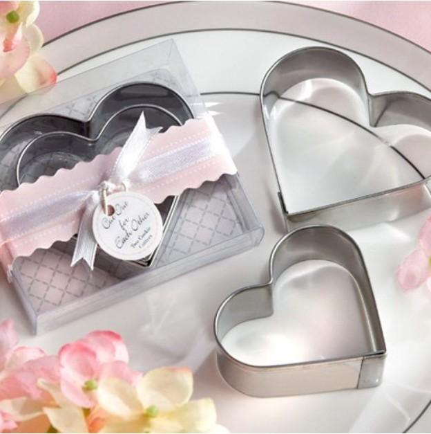 Fábrica venda direta 10pcs / lot presente de casamento em forma de coração cortadores de biscoito(China (Mainland))