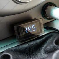 Motorcycle ATV Car Blue LED DC 8-24V Voltage Volt Meter Panel Monitor Gauge Free Shipping