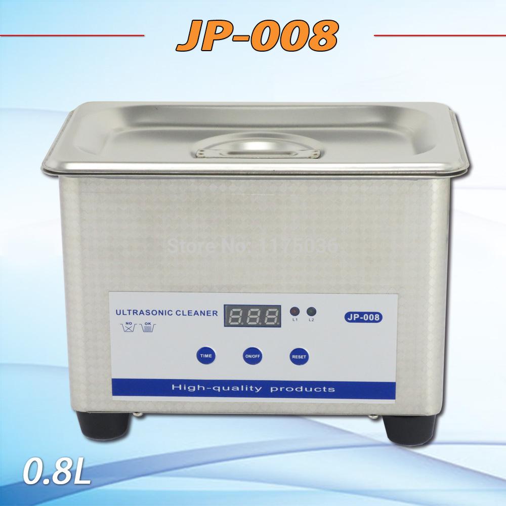 2014 neue jp-008 digital edelstahl ultraschallreiniger 110v/220v timer keine Heizung bestellt 800ml für schmuck reinigen haushalt