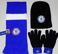Football fans commemorative scarf chelsea hat scarf gloves piece set