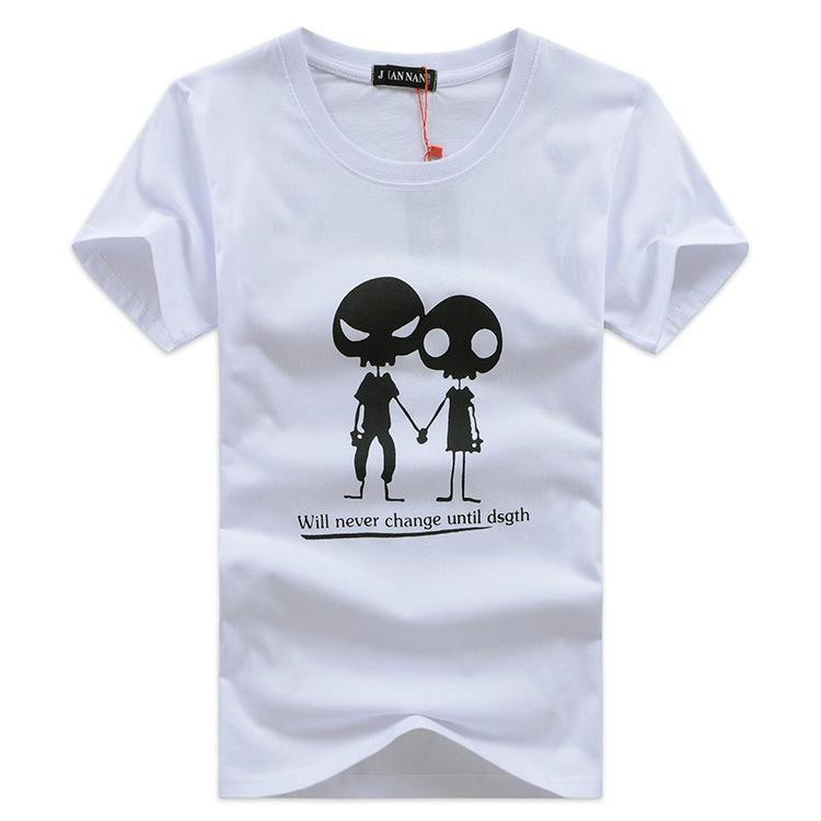 2014 New Brand man T Shirt Men clothing Men's O-Collar Short -Sleeve fit slim Cotton print Casual Shirt 3 color(China (Mainland))