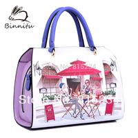 Freeshipping new Bunny 2014 cartoons fashion women handbag  women leather handbags trend street messenger bags