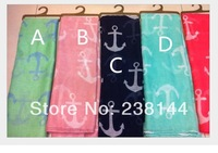 2014 New spring Style white Navy Blue Anchor sign print infinity loop forever scarf .20 pcs a lot