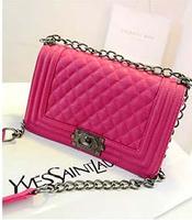 Promotion 2014 women's handbag chain bags women's messenger bags lady's plaid bag  vintage chain bag