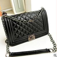 Hot-selling small women's handbag embroidery plaid vintage chain bag messenger  women bag