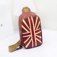 New Arrivals !  2014 fashion European Union Jack chest pack  purse sports leisure bag messenger bag free shipping B150