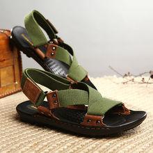Camel sandálias masculinas chinelos genuíno couro de couro sandálias masculinas casual ao ar livre sandálias de dupla utilização de couro homens sandálias para homens(China (Mainland))