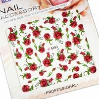 Saint finger applique nail art artificial flower eco-friendly multicolour watermark style