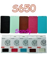 Hot Sale 2014 Newest Lenovo S650 Case Leather Flip Case In Stock Lenovo S650 Leather Flip Cover 1pcs Free Shipping