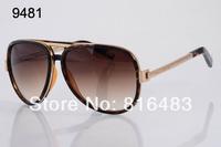 New hot best quality 2014 fashion designer Brand MJ364 vintage women sunglasses Aviator big frame trend sun glasses 4cols