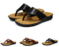 NEW 2014 Genuine Leather Sandals Bath Slippers Mature Beach Pedicure Slippers Men Shoes Flats Fashion Shoes Men Pumps 39-44
