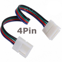 Wire with 4 Pin welding free connectors at 2 ends for 10mm width RGB 5050 led strip to strip 10pcs/lot