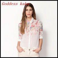 New Arrival Sping 2014 Fashion Women Chiffon Blouses Long-Sleeved Shirts Fashion Tops for women Free Shipping B013