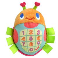 HOT!2014 sozzy ladybug stuffed plush kids musical phone toys lamaze cartoom baby early educational toy