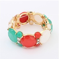 Europe And The United States Sweet All-match Gem Stretch Bracelet!#100479