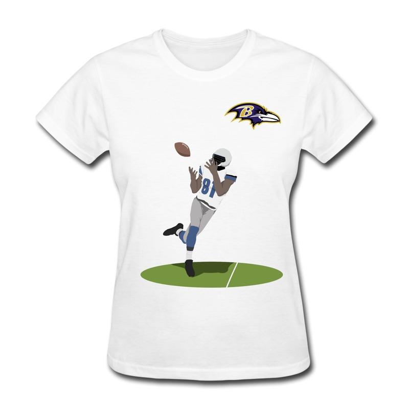 Creat Own Gildan Women Tee-Shirt Football Player Jokes Pics Shirts for Girls 2014 Fashion(China (Mainland))