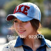 Europe and the United States popular long eaves Baseball Hat Plush letters do old men and women casual denim peaked cap visor