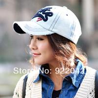 Popular European and American fashion embroidery letter Baseball Cap Hat leisure ladies denim duck tongue moisture cap