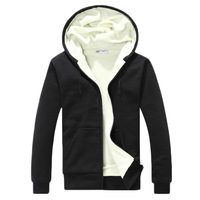 2015 spring and autumn brief plus velvet thickening thermal long-sleeve lovers with a hood sweatshirt