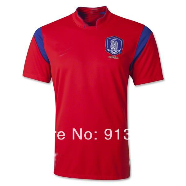 Wholesale Grade A++ 2014 world cup South Korea home soccer jersey football jersey uniforms shirt Free shipping(China (Mainland))