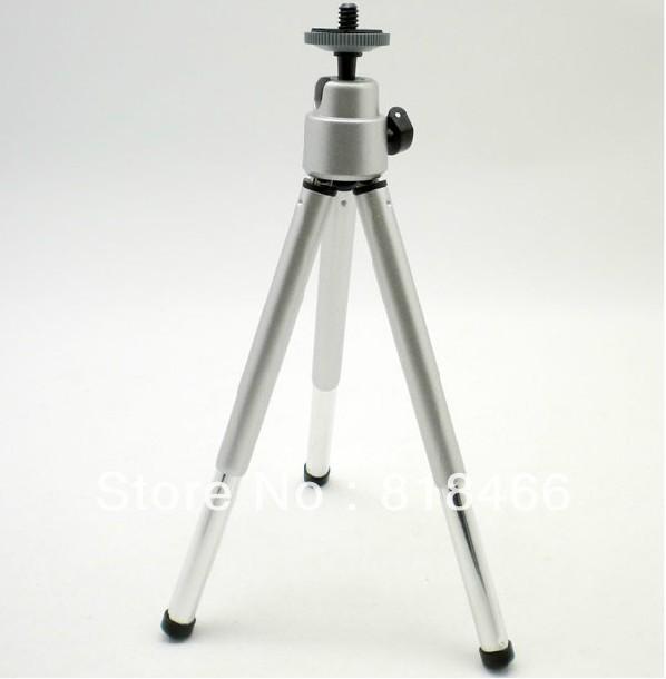 Free shipping 1PCS Mini Tripod Aluminum Metal Lightweight Tripod Stand Mount For Digital Camera Webcam Phone DV Tripod(China (Mainland))