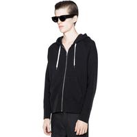 Classic casual zipper with a long-sleeve hood sweatshirt Men 3