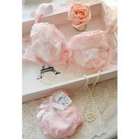 new 2014 cake sexy women lace princess deep V-neck push up underwear sets bra set bra & brief sets japanese