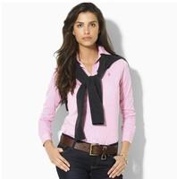2014Hot sale Fashion Lattice Blouse Us Stripe Plaid Printed Lady Vintage Design Long Sleeve Slim Women Shirt S~XXL Free Shipping