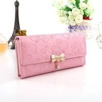 hot  2014  women  travel  bag  Wallet women's wallet long zipper design women's wallet bag a17 pink