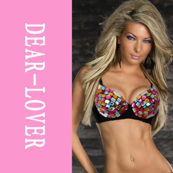 Rainbow Diamond Bra Top LC25094 Cheap Price Drop Shipping+ perfect quality new fashion(China (Mainland))