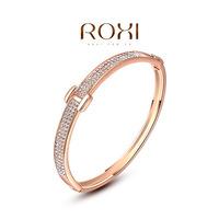 Wholesale ROXI Fashion Accessorie Jewelry Full CZ Diamond Austria Crystal with SWA Element H Belt Bangle for Women