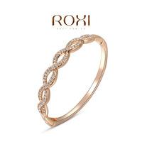 Wholesale ROXI Fashion Accessorie Jewelry Full CZ Diamond Austria Crystal with SWA Element Cross Bangle for Women