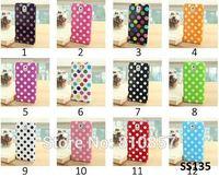 100pcs, Stylish Polka Dots TPU Gel Rubber Skin Case Cover for Samsung Galaxy Note 3 III N9000, FREE DHL