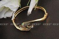 Wholesale ROXI Fashion Accessorie Jewelry Full CZ Diamond Austria Crystal with SWA Element Double Snake Bangle for Women
