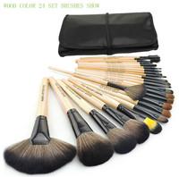 Stage Makeup Brush 24pcs set 3color Brushes set tools portable full Cosmetic brush tools Foundation Eyeshadow Lip brush