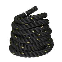 "1.5""diam.40ft High quality  Workout Training Undulation  Poly Dacron Battle Rope Black Color"