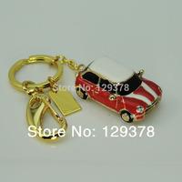 Metal mini crystal car 8G usb flash drive gift usb flash drive