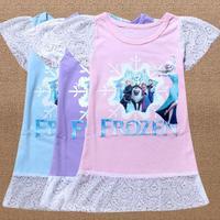 2014 New Hot Sale!!!!!! Good quality  Frozen dress Girl dress Frozen Elsa's dress and Anna's children dress!!