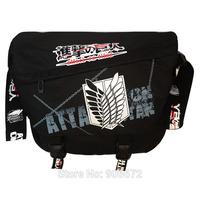 high quality 1106 new attack on titan Jiyuu no Tsubasa anime training action backbag bag canvas strap satchel manga shoulder