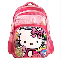 New 2014 hot sale children school bags 3 - 6 female male hellokitty DORAEMON burdens backpack child school bag
