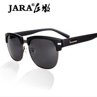 Fashion personality glasses jara vintage in the box sunglasses black metal sunglasses