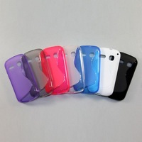 2pcs/lot Free Shipping New S Line TPU Soft back Case for Alcatel One Touch Pop C3 OT-4033D