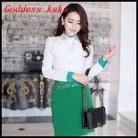 Fashion women 2014 new OL chiffon blouse Burning flower collar ladies blouses women clothing free shipping B023