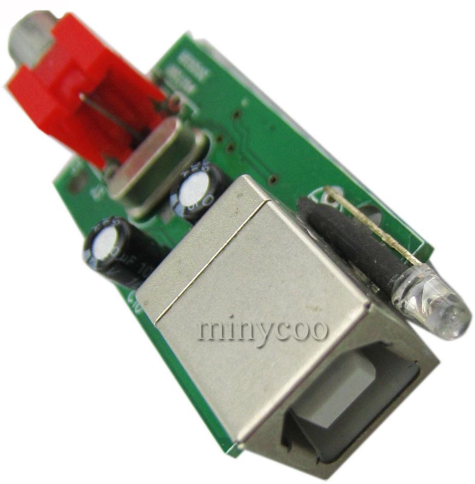 PCM2704 usb to spdif module USB sound cards digital sound card+1.5m usb line(China (Mainland))