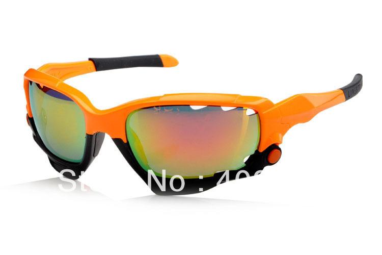 Brand Name Bicyle Cycling Eyewear Men/Women's Jawbone Sport Sunglass Orange/Black Frame Fire Iridium Lens Black Logo Box(China (Mainland))